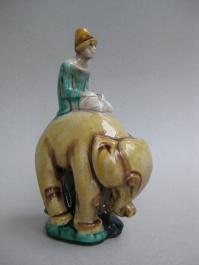 Elefantenreiter (Formnurnmer 3), 1924, Höhe 28 cm, Entwurf: Augusta Kaiser