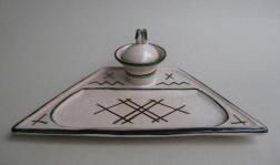 Schreibzeug (Formnummer 700), 1924, Höhe 12 cm, Durchmesser 34,5 cm, Entwurf: Hedwig Marquardt