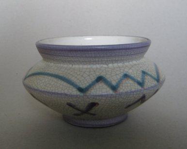 Vase (Formnummer 132), 1926, Höhe 8 cm, Entwurf: Karl Taggeselle