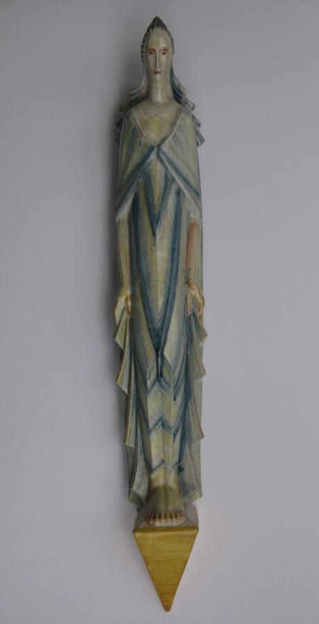Wandfigur (Madonna), Formnummer 19, 1926, Höhe: 90 cm, Entwurf: Ludwig Kunstmann